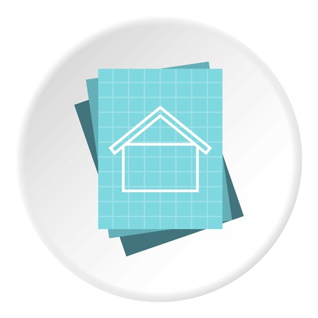specify: House project icon. Flat illustration of house project vector icon for web Illustration