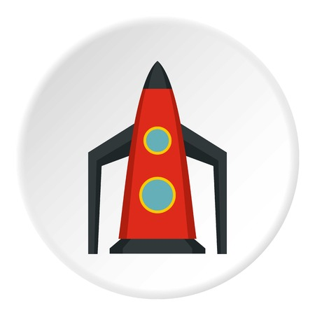 space flight: Rocket for space flight icon. Flat illustration of rocket for space flight vector icon for web