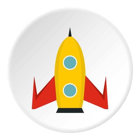 Universal rocket icon. Flat illustration of universal rocket vector icon for web