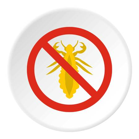 interdiction: Prohibition sign insects icon. Flat illustration of prohibition sign insects vector icon for web