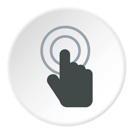 cursor hand: Cursor hand icon. Flat illustration of cursor hand vector icon for web