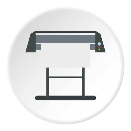 paint container: Platen for printing machines icon. Flat illustration of platen for printing machines vector icon for web