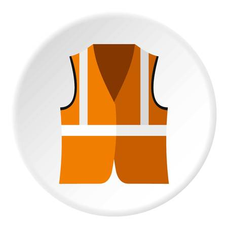 reflective: Reflective vest icon. Flat illustration of reflective vest vector icon for web