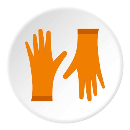 rubber gloves: Rubber gloves icon. Flat illustration of rubber gloves vector icon for web