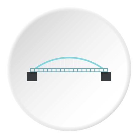 balustrade: Classic bridge icon. Flat illustration of classic bridge vector icon for web