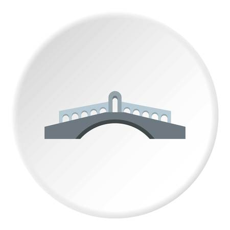 balustrade: Round bridge icon. Flat illustration of round bridge vector icon for web Illustration