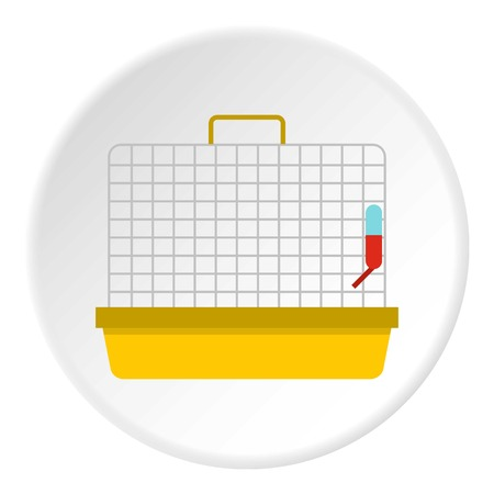 cage birds: Cage for birds icon. Flat illustration of cage for birds vector icon for web