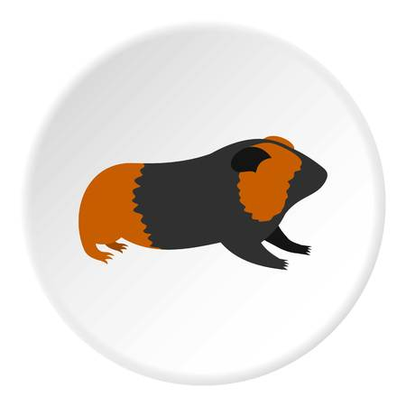 Hamster icon. Flat illustration of hamster vector icon for web Illustration