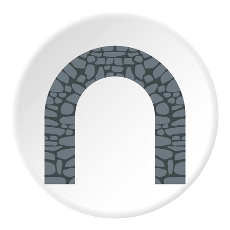 stone arch: Stone arch icon. Flat illustration of stone arch vector icon for web Illustration
