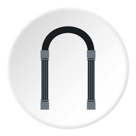 flat iron: Iron arch icon. Flat illustration of iron arch vector icon for web
