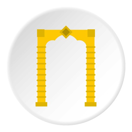 Eastern arch icon. Flat illustration of eastern arch vector icon for web