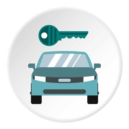 Car from impound yard icon. Flat illustration of car from impound yard vector icon for web
