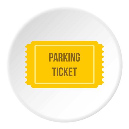 drive ticket: Parking ticket icon. Flat illustration of parking ticket vector icon for web