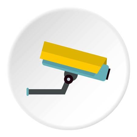 prevalence: Surveillance camera icon. Flat illustration of surveillance camera vector icon for web Illustration