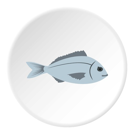 saltwater: Saltwater fish icon. Flat illustration of saltwater fish vector icon for web