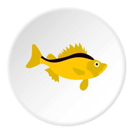 Ruff fish icon. Flat illustration of ruff fish vector icon for web Illustration