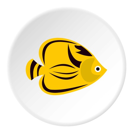 tang: Fish yellow tang icon. Flat illustration of fish yellow tang vector icon for web