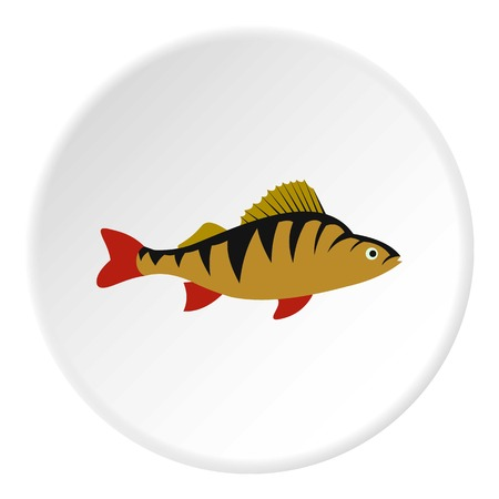 Perch fish icon. Flat illustration of perch fish vector icon for web Illustration