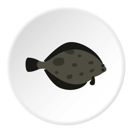 flounder: Fish flounder icon. Flat illustration of fish flounder vector icon for web Illustration