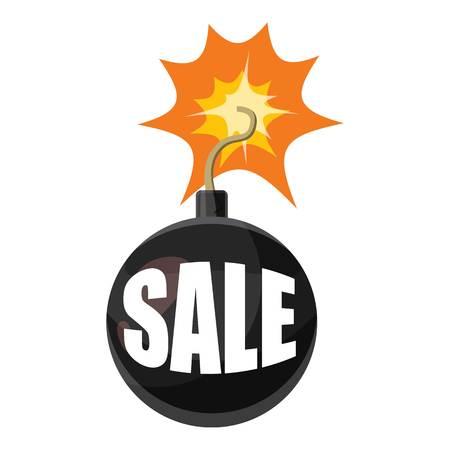Bomb sale icon. Cartoon illustration of bomb sale vector icon for web