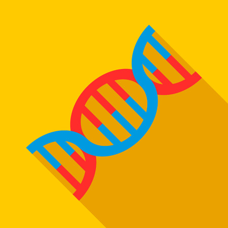 DNA icon. Flat illustration of DNA vector icon for web Illustration