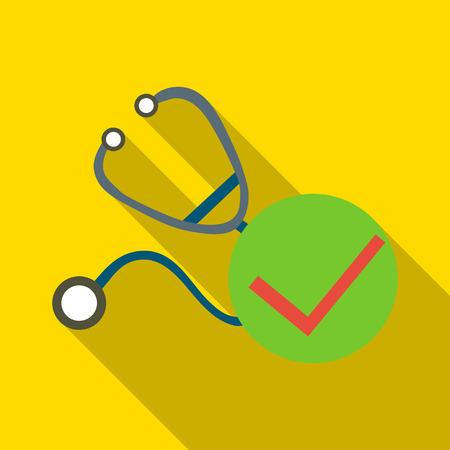 Stethoscope icon. Flat illustration of stethoscope vector icon for web Illustration