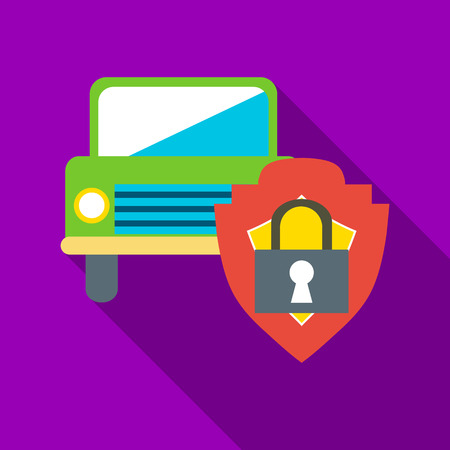 Machine protected icon. Flat illustration of machine protected vector icon for web