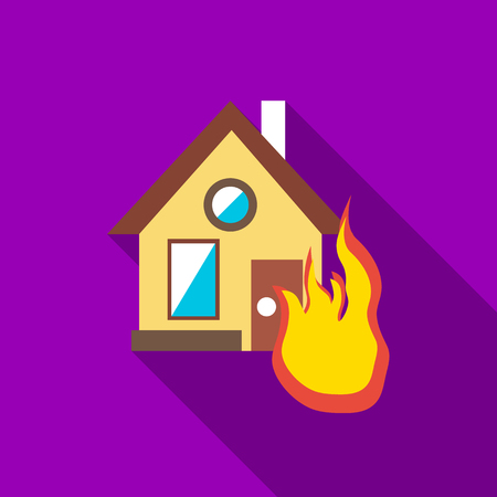 protect home: Protect home from fire icon. Flat illustration of protect home from fire vector icon for web Illustration