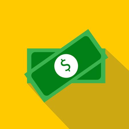 money packs: Two packs of money icon. Flat illustration of two packs of money vector icon for web Illustration