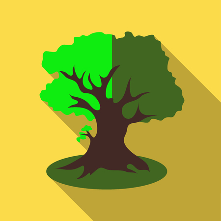 thick forest: Thick tree icon. Flat illustration of thick tree vector icon for web Illustration