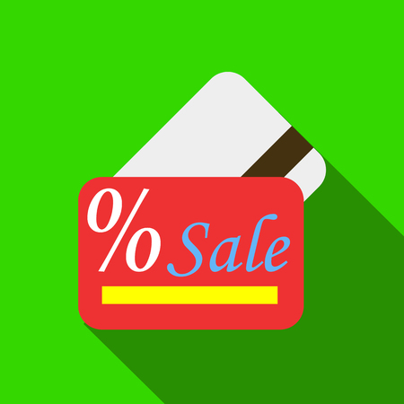 expiration date: Card sale icon. Flat illustration of card sale vector icon for web Illustration