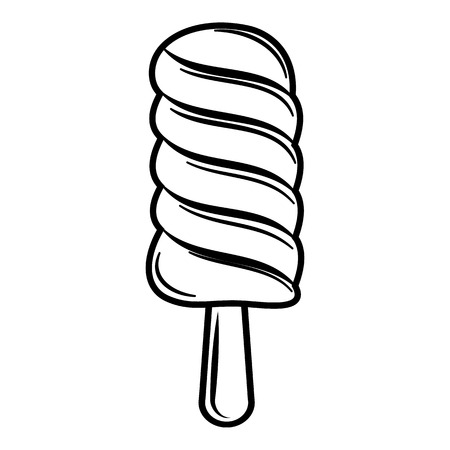 ice lolly: Ice lolly icon. Outline illustration of ice lolly vector icon for web Illustration