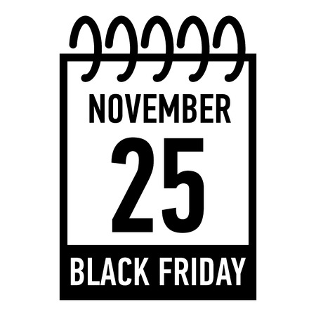 fifth: Calendar twenty fifth of november icon. Simple illustration of calendar twenty fifth of november vector icon for web Illustration
