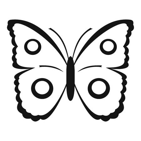 mormon: Butterfly peacock eye icon. Simple illustration of butterfly peacock eye vector icon for web Illustration