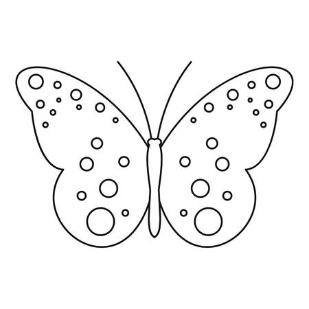 mormon: Butterfly with spot icon. Outline illustration of butterfly with spot vector icon for web