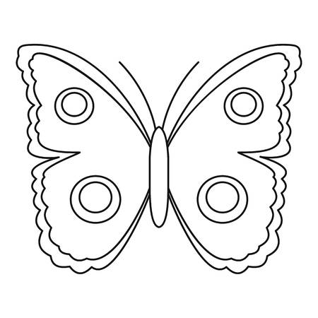 mormon: Big spot butterfly icon. Outline illustration of big spot butterfly vector icon for web