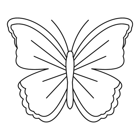 mormon: Big butterfly icon. Outline illustration of big butterfly vector icon for web