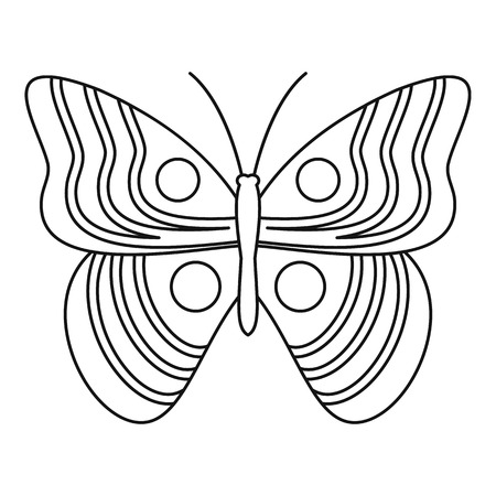 mormon: Light butterfly icon. Outline illustration of light butterfly vector icon for web Illustration