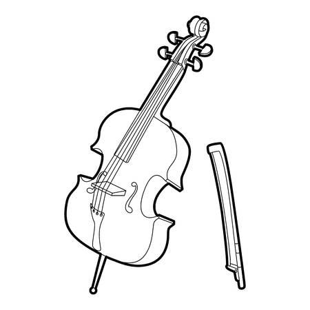 Violin icon. Outline isometric illustration of violin vector icon for web