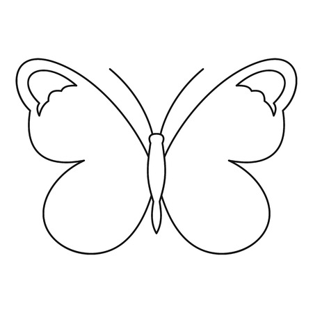 mormon: Nice butterfly icon. Outline illustration of nice butterfly vector icon for web Illustration