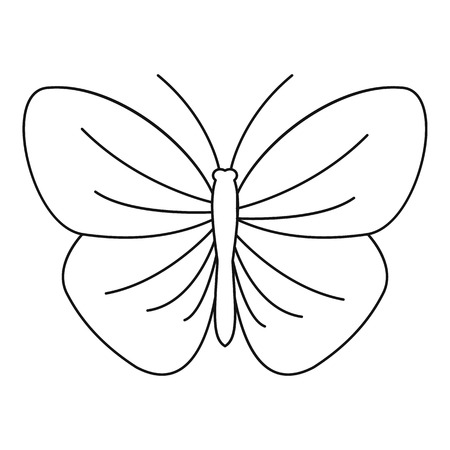Butterfly with strip icon. Outline illustration of butterfly with strip vector icon for web Illustration