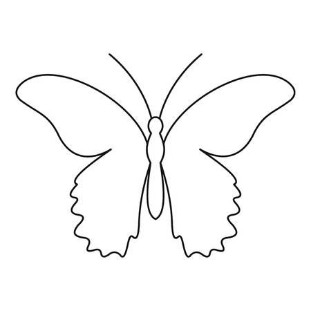 mormon: Butterfly urticaria icon. Outline illustration of butterfly urticaria vector icon for web