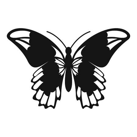 admiral: Admiral butterfly icon. Simple illustration of admiral butterfly vector icon for web
