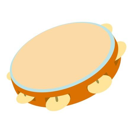Icona del tamburello. Illustrazione di cartone animato di icona vettoriale tamburello per il web