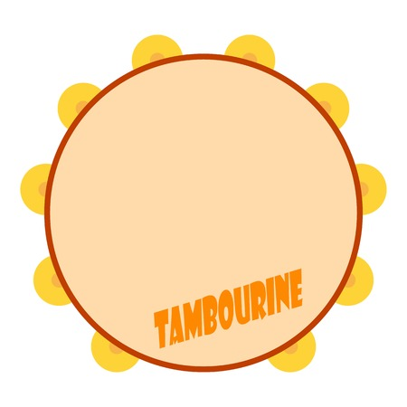 Tambourine icon. Flat illustration of tambourine vector icon for web