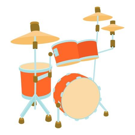 rhythm rhythmic: Drum icon. Cartoon illustration of drum vector icon for web