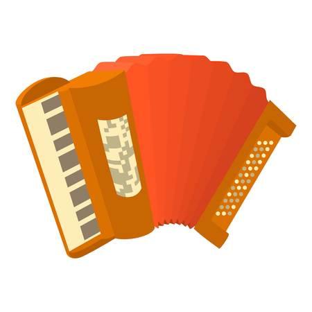 overtone: Accordion icon. Cartoon illustration of accordion vector icon for web