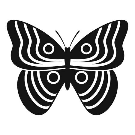 mormon: Stripped butterfly icon. Simple illustration of Stripped butterfly vector icon for web Illustration