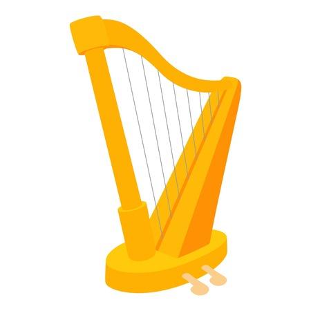 letras musicales: Icono de arpa. Ilustración de dibujos animados de vectores icono de arpa para web