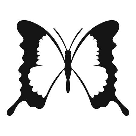 swallowtail: Swallowtail butterfly icon. Simple illustration of swallowtail butterfly vector icon for web